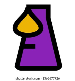 Erlenmeyer, Difficult Experiment, Hard,  Outline Filled Style Icon Vector - Vector