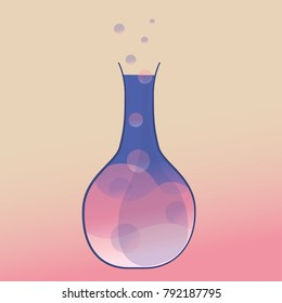 Erlenmeyer flask with chemical