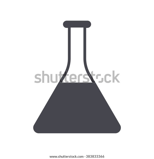 Erlenmeyer Flask Conical Flask Chemistry Glassware Stock