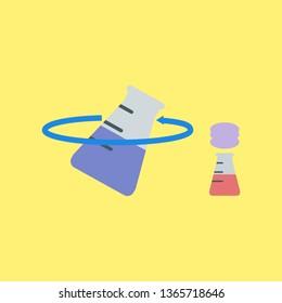 Erlenmeyer, Reaction Chemistry, Laboratory Illustration - Vector