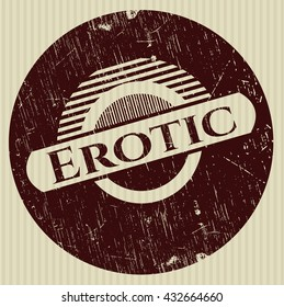 Erotic with rubber seal texture