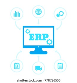 ERP system icons
