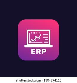 ERP system software vector logo