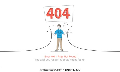 Error 404 page layout vector design. Website 404 page error with service man and broken connection creative concept. Modern 404 page not found concept. The page you requested could not be found.