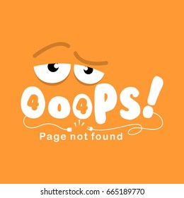 Error 404 page layout. Vector illustration