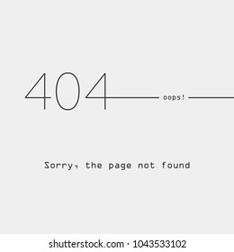 error 404, page not found, socket, connection error, flat style, abstract background for web page, error page with humor