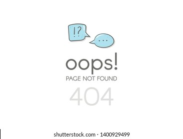 Error 404 page not found.  Website 404 web failure. Oops trouble internet warning.