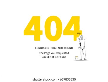 error 404 page datacenter server elements stock vector royalty free