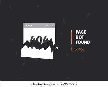 Error 404, web page not found. Ideal for your error page. 100% vector, EPS 10.
