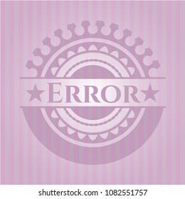 Error realistic pink emblem