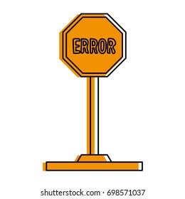 error traffic sign icon image