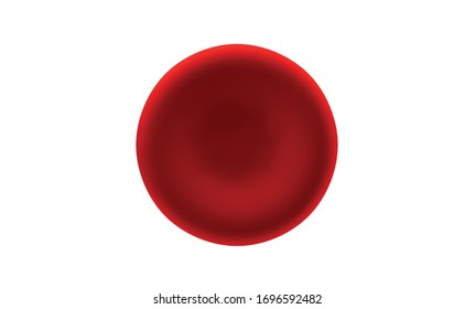 Erythrocyte or red blood cell isolated on white background. 3d realistic vector picture of hemoglobin for hematology, microbiology health human illustration