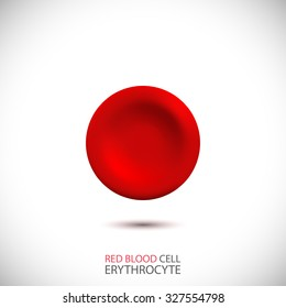 Erythrocyte. Red blood cell. Vector Illustration