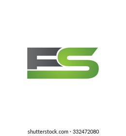 ES company linked letter logo green