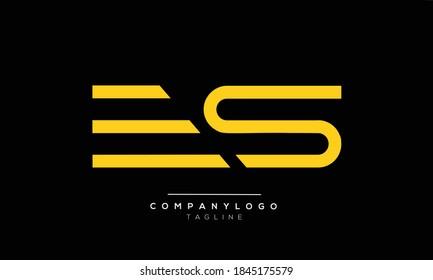 ES initials monogram letter text alphabet logo design