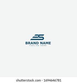 ES Letter Logo Design Template Vector