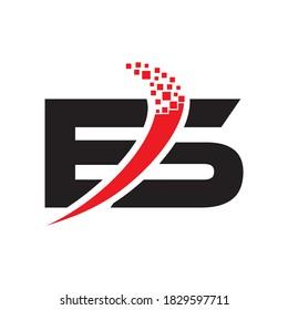 ES letter logo vector design
