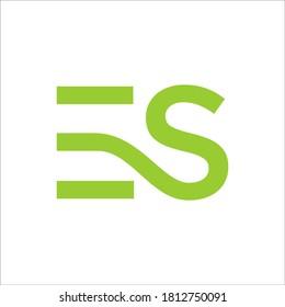 ES logo design vector sign