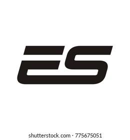 ES logo initial letter design template vector illustration