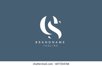 ES SE Lowercase Letter Initial Icon Logo Design Vector Illustration