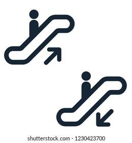 Escalator elevator icon. Vector illustration. Business concept escalator pictogram