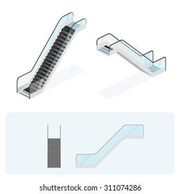 Escalator. Vector illustration.