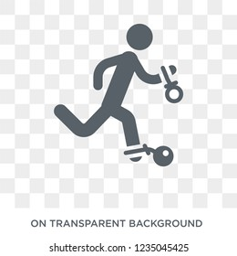 Escape icon. Trendy flat vector Escape icon on transparent background from law and justice collection.