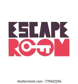 Escape room. Vector illustration poster, banner on white background.