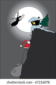 Escape Rudolf. Funny Christmas card