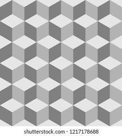 Escher cubes pattern