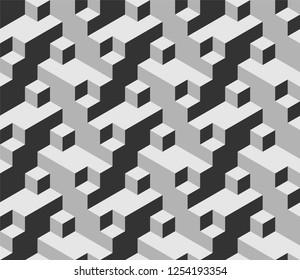 Escher style isometric pattern