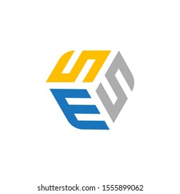 ESE , ESS , SES , SSE Monogram Style Unique Vector Logo design With Blue And Gray