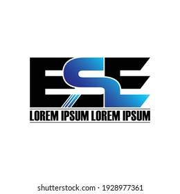 ESE letter monogram logo design vector