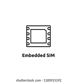 eSIM Embedded SIM card icon symbol concept. new chip mobile cellular communication technology. vector illustration in flat style.