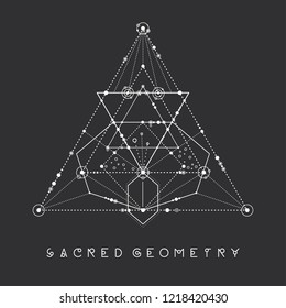 Esoteric sacred geometry vector on black background