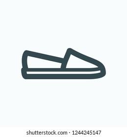 Espadrilles icon, espadrille platform slip-on vector icon