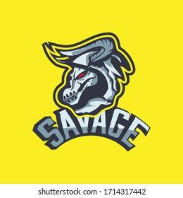 Esport gaming skull logo goat
