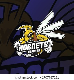 Esport Logo with Hornets Concept. Illustration for Sport, Badge, Printing Design and Esport Team.