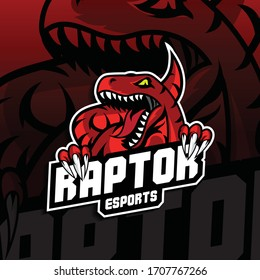 Esport Logo with Raptor Concept. Illustration for Sport, Badge, Printing Design and Esport Team.