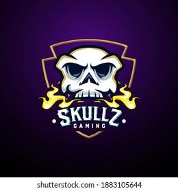 eSport skull mascot logo emblem