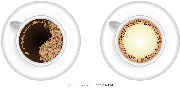 Espresso and Cappuccino coffee cups,vector design,EPS10