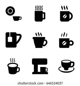 Espresso icons set. set of 9 espresso filled icons such as coffee, dish, coffee cup, tea cup, cup, coffee machine