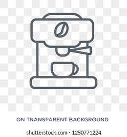 espresso maker icon. Trendy flat vector espresso maker icon on transparent background from Electronic devices collection. High quality filled espresso maker symbol use for web and mobile