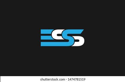 ESS, ES, SS Initial letter  logo design template