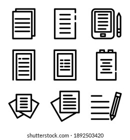essay icon or logo isolated sign symbol vector illustration - Collection of high quality black style vector icons