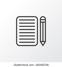Essay Writing Images Stock Photos  Vectors  Shutterstock Essay Writing Icon Symbol Premium Quality Isolated Home Work Element In  Trendy Style