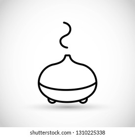 Essential oils diffuser - vector thin line icon