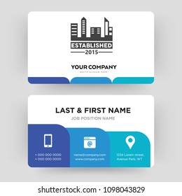 established, business card design template, Visiting for your company, Modern Creative and Clean identity Card Vector