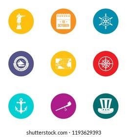 Establishment icons set. Flat set of 9 establishment vector icons for web isolated on white background