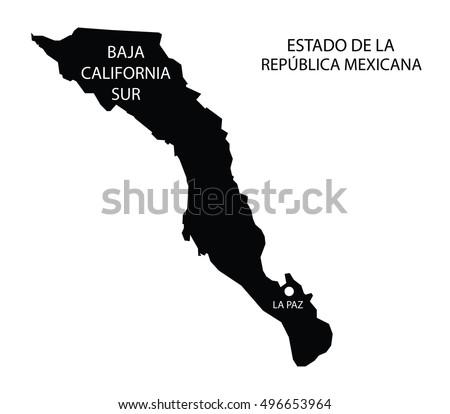 Estado De Baja California Sur Mexico Stock Vector Royalty Free